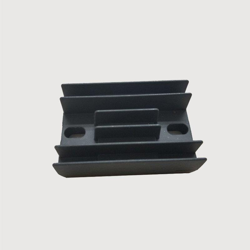 Black heatsink for motorcycle rectifier