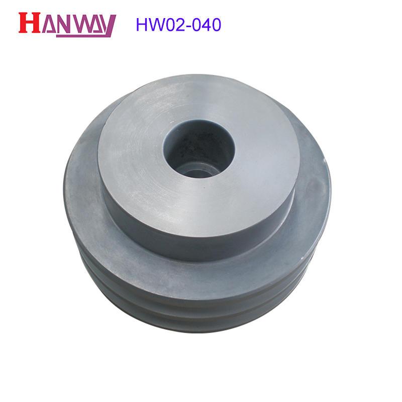 Custom sand precoated round aluminum pump die casting parts HW02-040