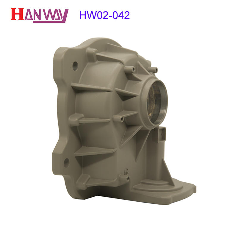 Metal powder coating auto precision die casting aluminum parts HW02-042