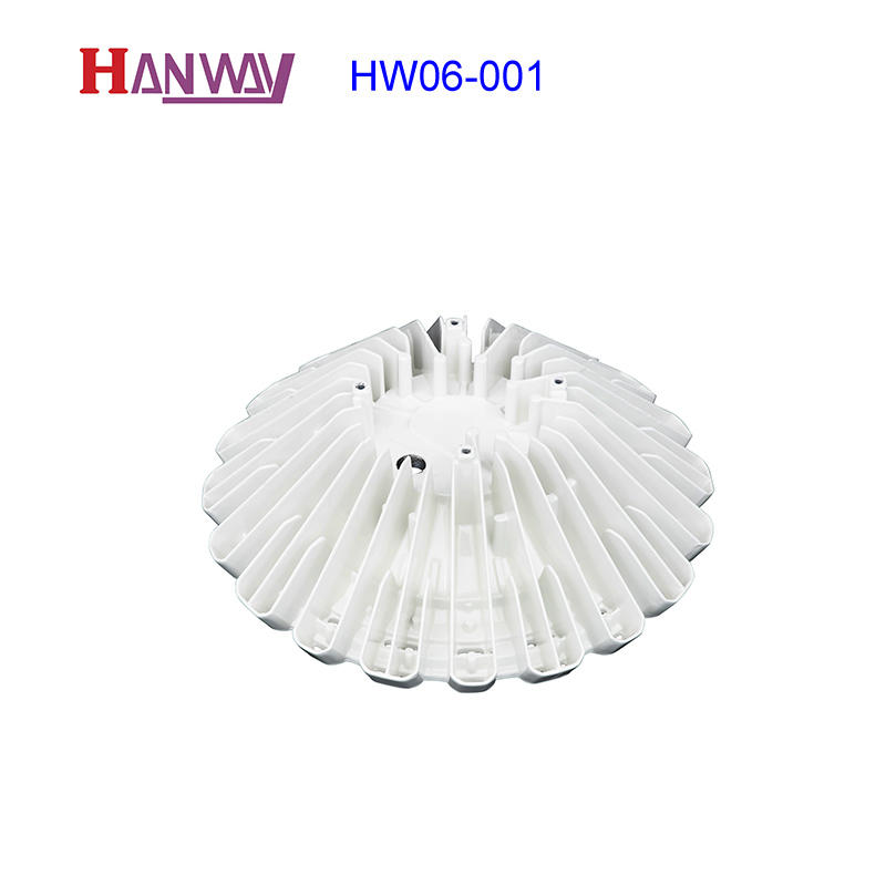 White power coating LED light heatsink aluminum foundry HW06-001