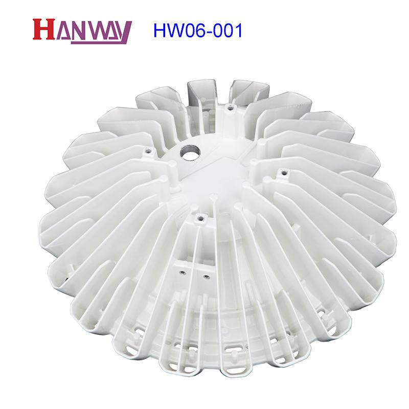 White power coating LED light heatsink aluminum foundry HW06-001