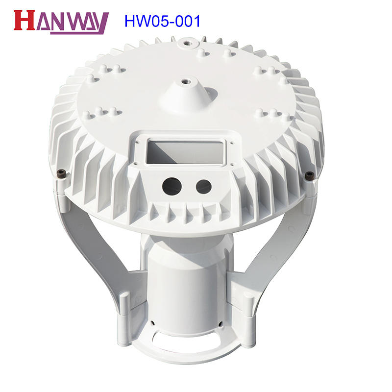 Hanway anodized cast aluminium post caps fixture for mining