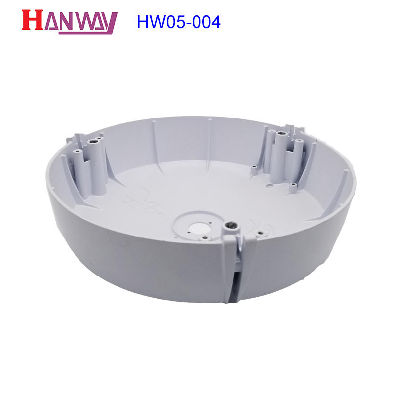 customized die-casting aluminium of lighting parts supplier for light Hanway