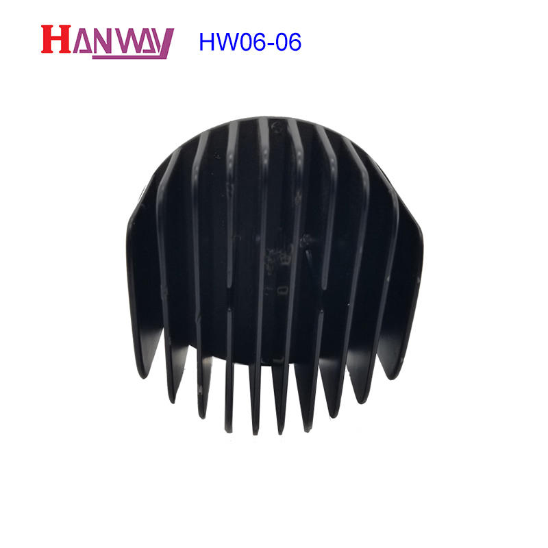 Custom made round extruded CNC machining led lights heat sink  HW06-006