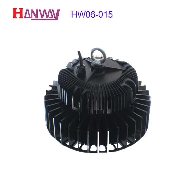Customized electronics lighting finished aluminum heat sink for led HW06-015