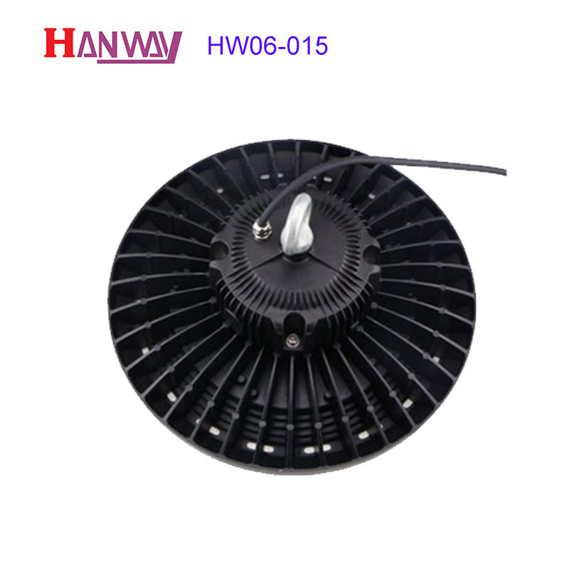 Customized electronics lighting finished aluminum heat sink for led HW06-015