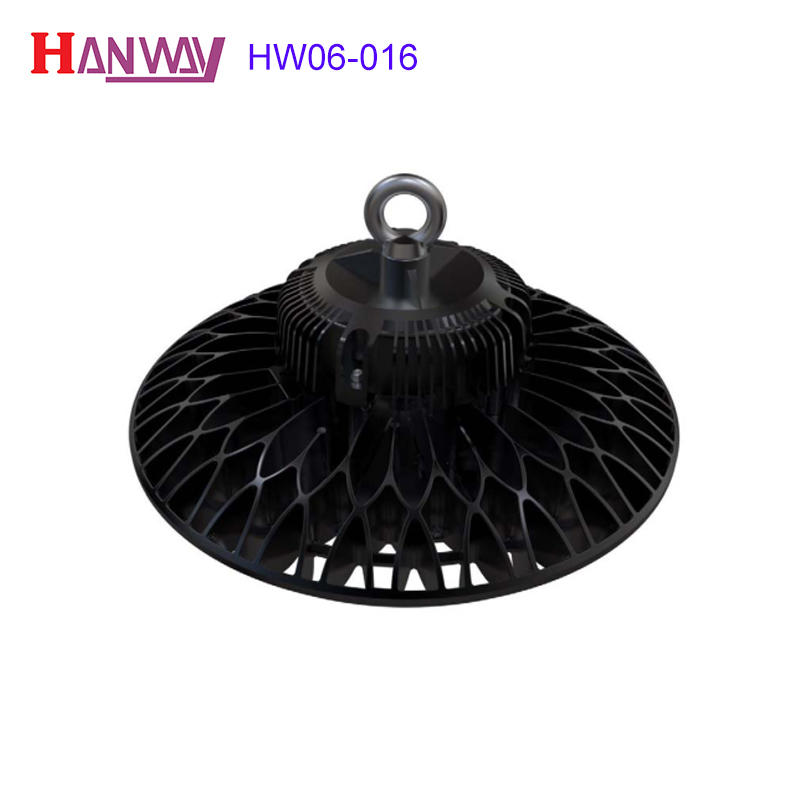 Customized electronics lighting finished aluminum heat sink for led HW06-016