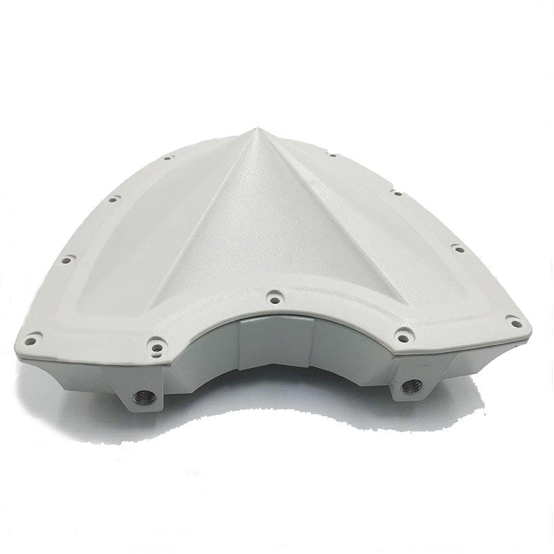Aluminum foundry white wireless antenna connector part