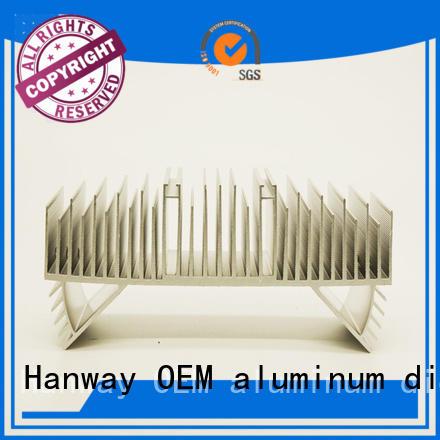 Hanway Brand precision lamp aluminum channel