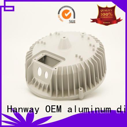 housing cnc LED light heat sink die casting light Hanway Brand