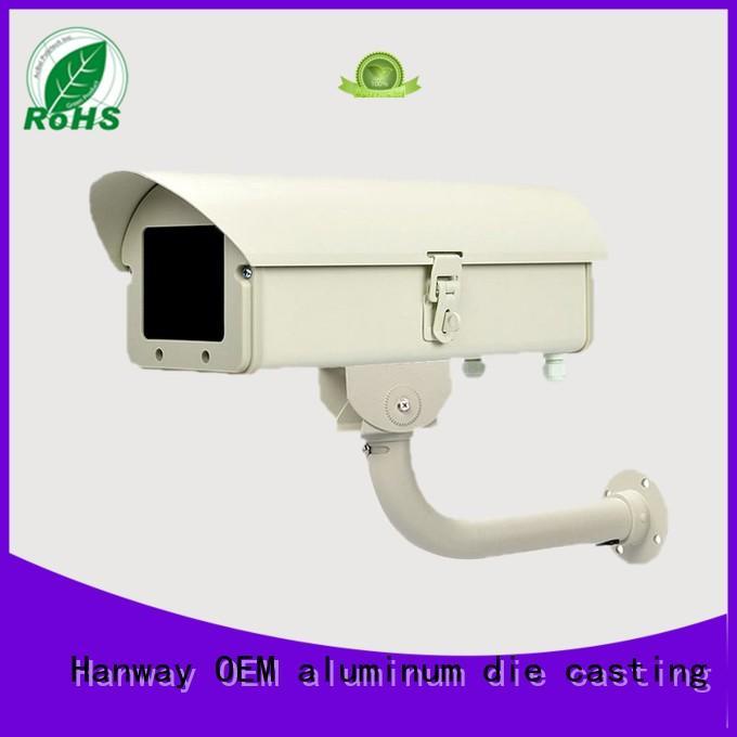 white housing aluminum casting camera Hanway