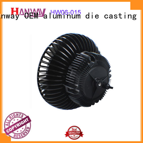 precision led heatsink part for manufacturer Hanway