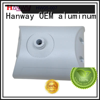 Hanway anodized light housing part for mining