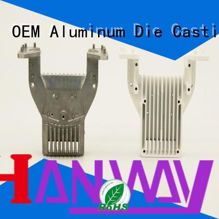 custom heatsink cnc die aluminum die casting supplier Hanway Brand