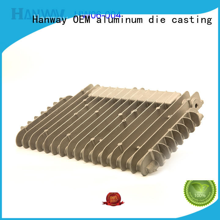 Hanway die casting led heatsink customized for workshop