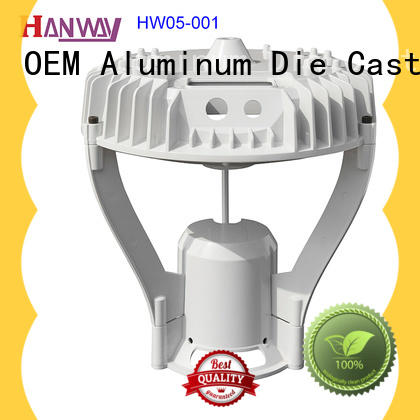 Hanway outdoor die-casting aluminium of lighting parts customized for lamp