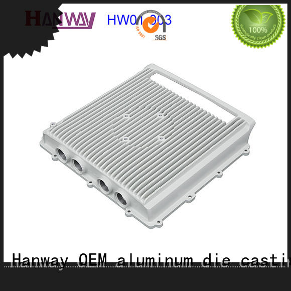 white aluminium heat sink personalized for antenna system Hanway