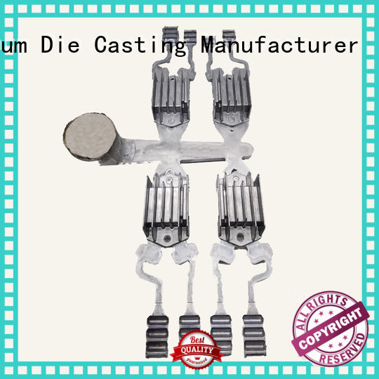 custom heatsink casting regulator aluminum die casting supplier black Hanway Brand