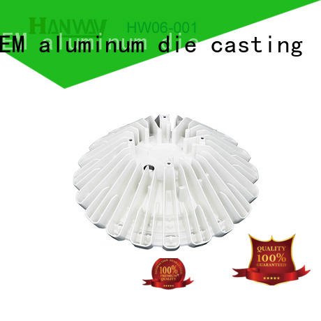 Hanway white led heatsink factory price for manufacturer