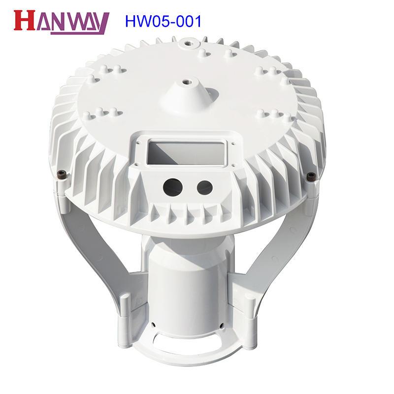 Hanway anodized cast aluminium post caps fixture for mining-2