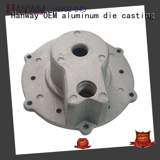 customized zinc alloy die casting parts aluminium for manufacturer Hanway