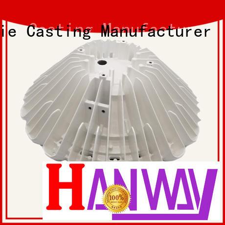 light Custom machining LED light heat sink die casting sink Hanway