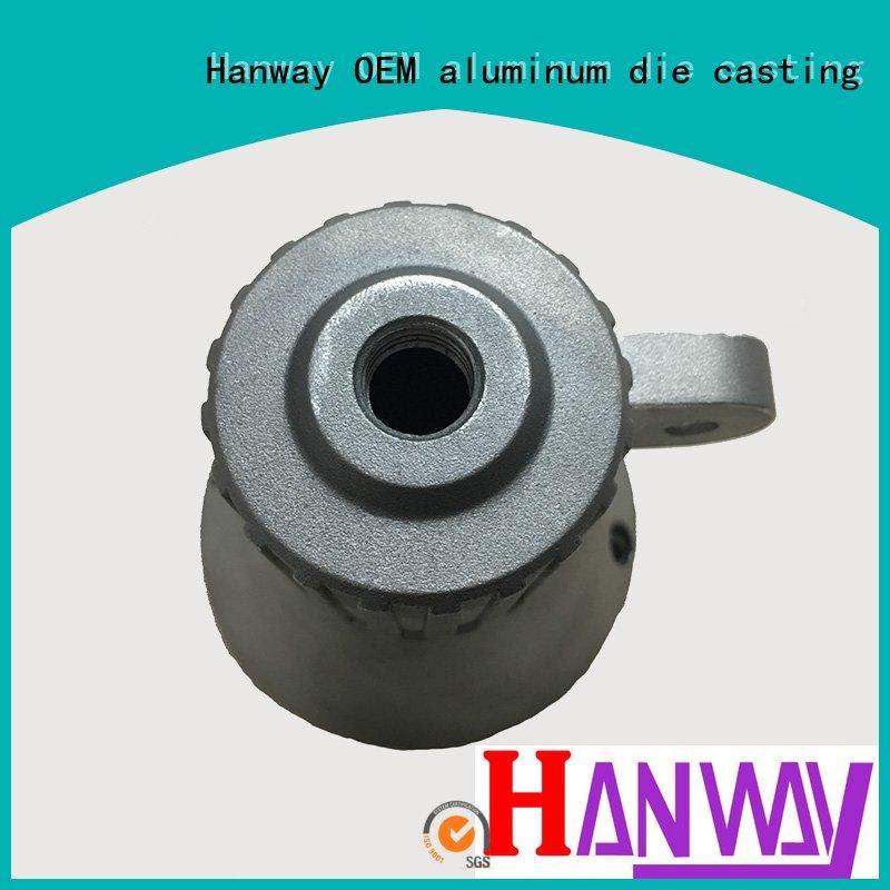 Custom lamp housing aluminum light pole Hanway parts