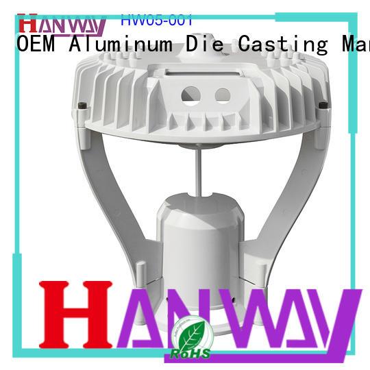 Hanway oem die-casting aluminium of lighting parts part for lamp