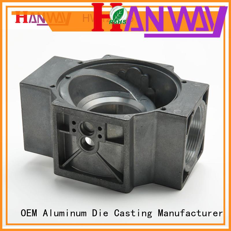 High pressure aluminum chromate plated die casting parts HW12-005