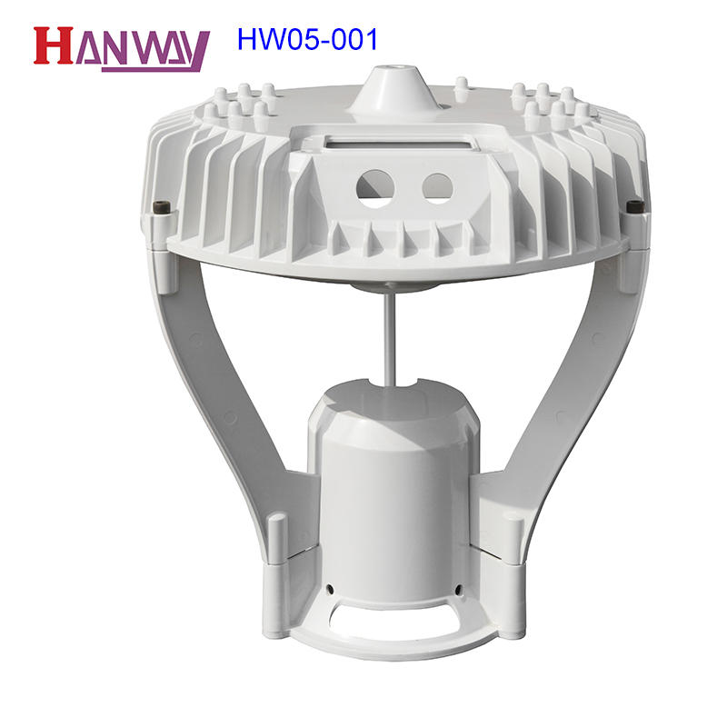 Hanway anodized cast aluminium post caps fixture for mining-1