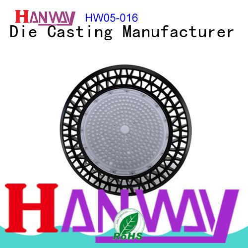 Hanway CNC machining die-casting aluminium of lighting parts part for lamp