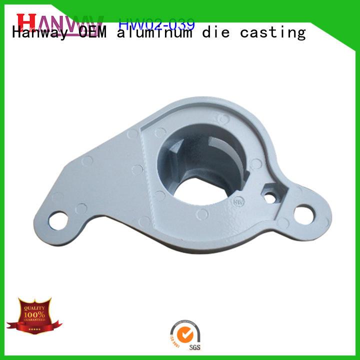 Hanway polished aluminum die casting parts supplier for workshop