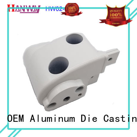 hw02007 aluminium die casting parts molded for manufacturer Hanway