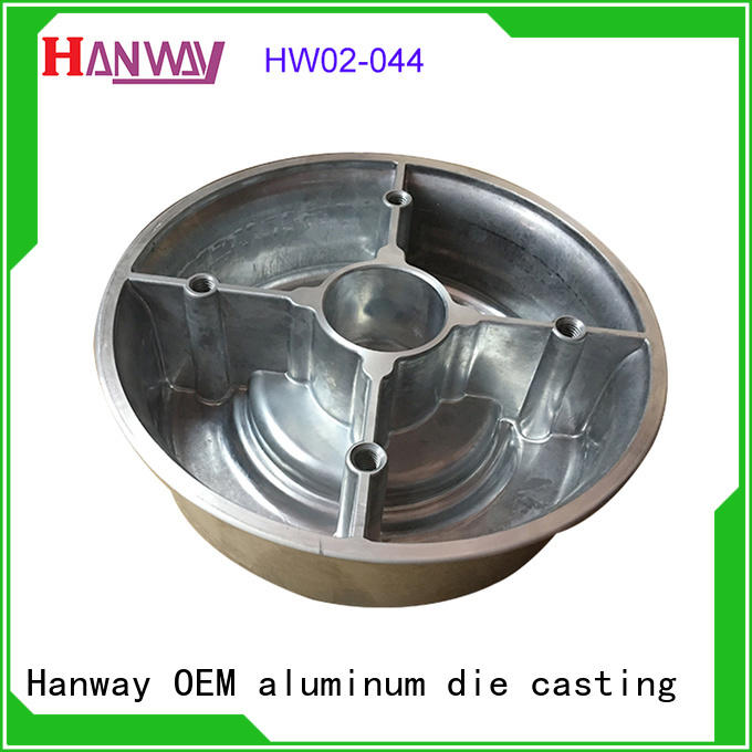 Hanway forged aluminium die casting auto parts precoated for plant