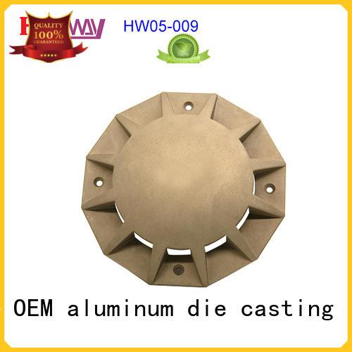 Hanway CNC machining cast-aluminium post base connectors for mining