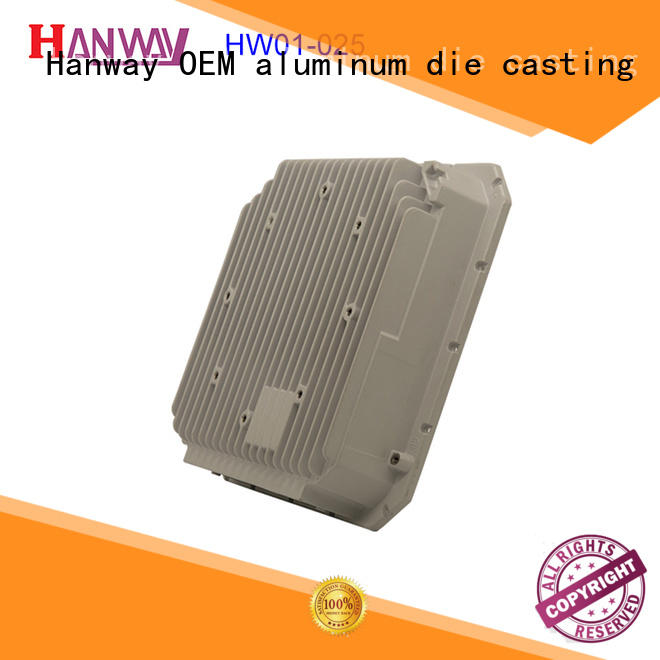 Hanway coating aluminum alloy casting design for antenna system