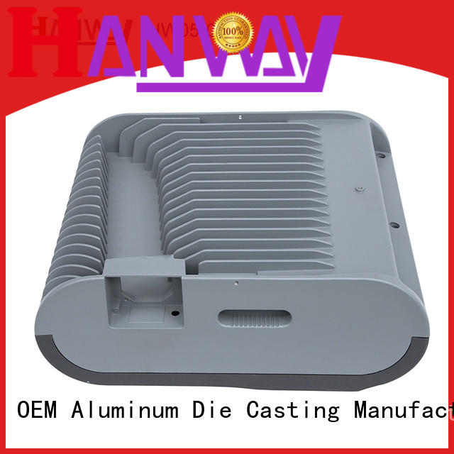 Hanway CNC machining cast aluminium post caps lighting for lamp