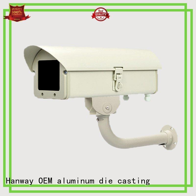 foundry precision bracket black aluminum die cast cctv camera housing Hanway